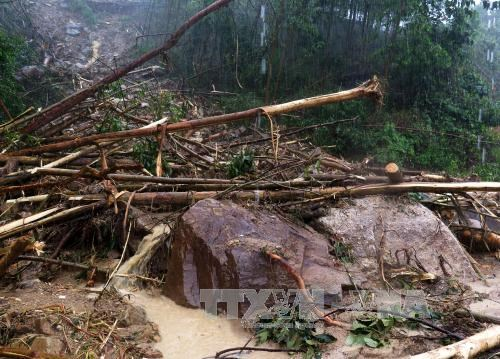 Many areas in the northern mountain province of Lao Cai will be affected by natural disasters during the rain and flooding season this year (Photo: VNA)