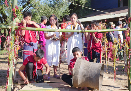 Karen people playing their traditional instruments. Photo - KESAN/Supplied