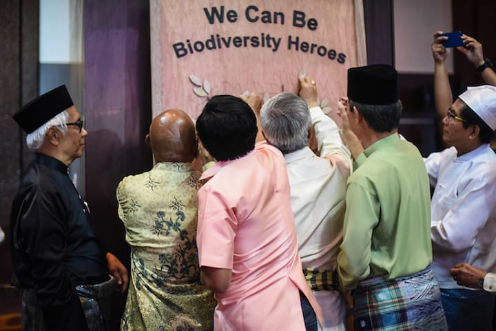 The 10 ASEAN Biodiversity Heroes committed to lead the ASEAN region by posting their pledges for the ASEAN Centre for Biodiversity's We Can Be Biodiversity Heroes campaign.