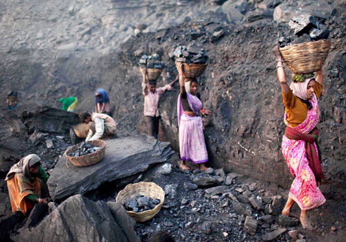 A file photo of a coal mine in Bokapahari, Jharkhand in India. World's biggest coal users – China, the United States and India – have boosted coal mining in 2017. Photo - AP