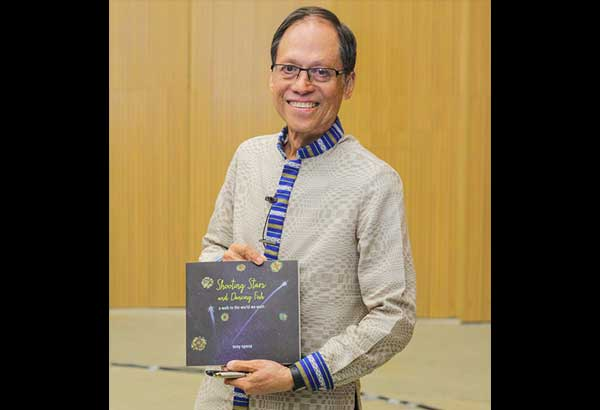 Internationally recognized environmental lawyer and activist Atty. Tony Oposa and his book, Shooting Stars and Dancing Fish