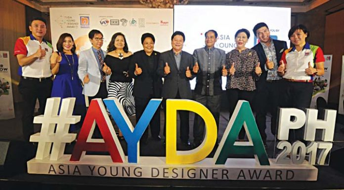 In Photo: Michael Francisco, Nippon Paint Coatings Philippines general manager (first from left) and Gladys Goh (first from right), Nippon Paint Malaysia Group general manager with the judges from the architecture and interior-design categories of Asia Young Designer Award.