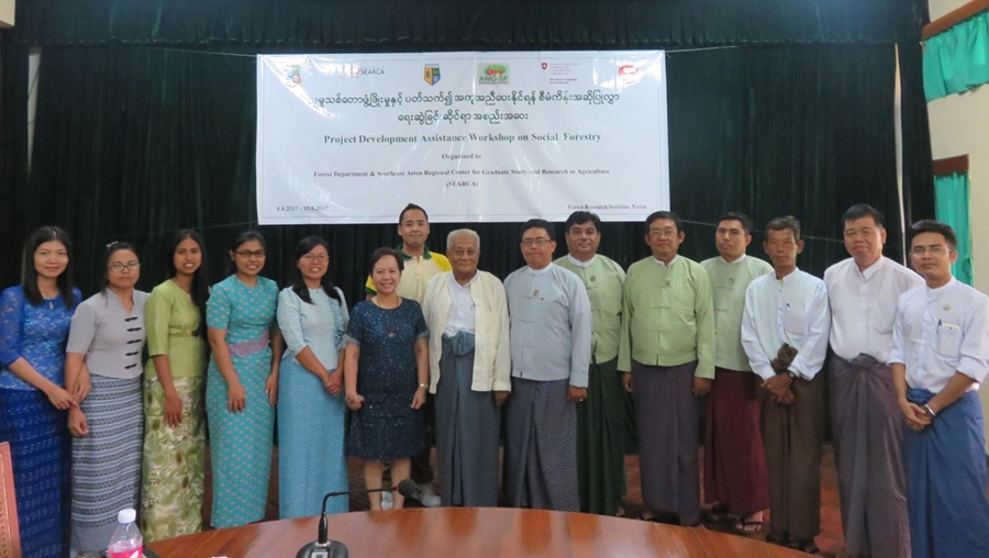 Participants to the Pilot-Testing of the ASRF Project Development Toolkit and validation of Gap Analysis of Myanmar on Social Forestry (8 August 2017) from the government, academe, NGO, and local community working on Social Forestry in Myanmar