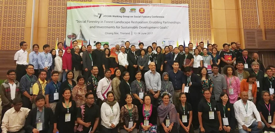 The participants and resource persons during the 7th AWG-SF Conference in Chiang Mai, Thailand.