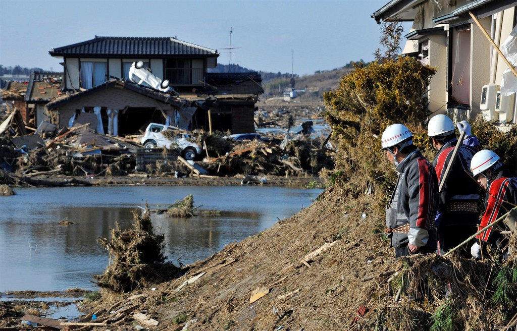 A scene of devastation in Japan after the 11 March earthquake and tsunami in 2011. Natural disasters are expected to intensify in strength thanks to climate change. Image: Warren Antiola, CC BY-NC-ND 2.0