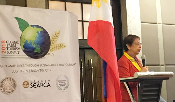 Dr. Mina T. Gabor, President, International School of Sustainable Tourism (ISST) and former Philippine Tourism Secretary, opens the summit, saying 'small farmers, big companies, medium corporations, and families asking about farm tourism. And the fact that they are asking is a big step towards the success of this event.'
