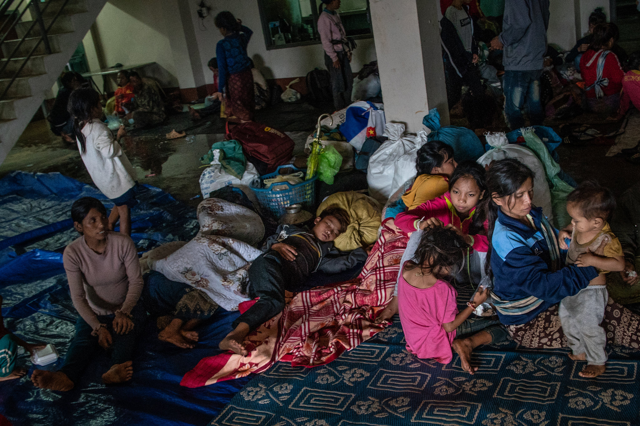 Displaced residents seeking shelter in Paksong, Laos, on Wednesday.CreditBen C. Solomon/The New York Times