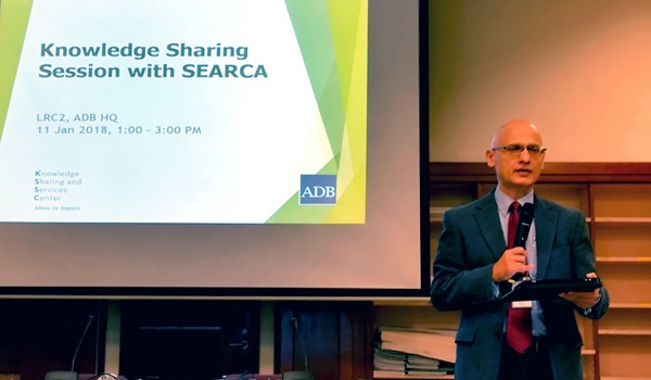 Mr. Gambhir Bhatta, ADB Unit Head of Knowledge Sharing and Services Center (KSSC), as he explained the concept of knowledge and its importance to ADB.