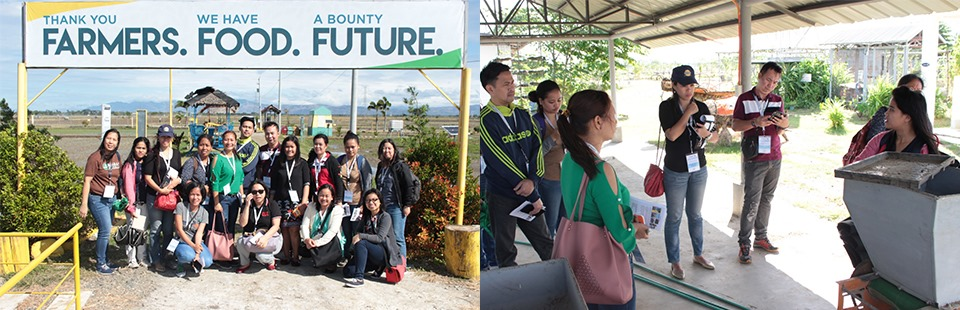 Participants during the field tour at the Philippine Rice Research Institute (PhilRice) in Nueva Ecija.