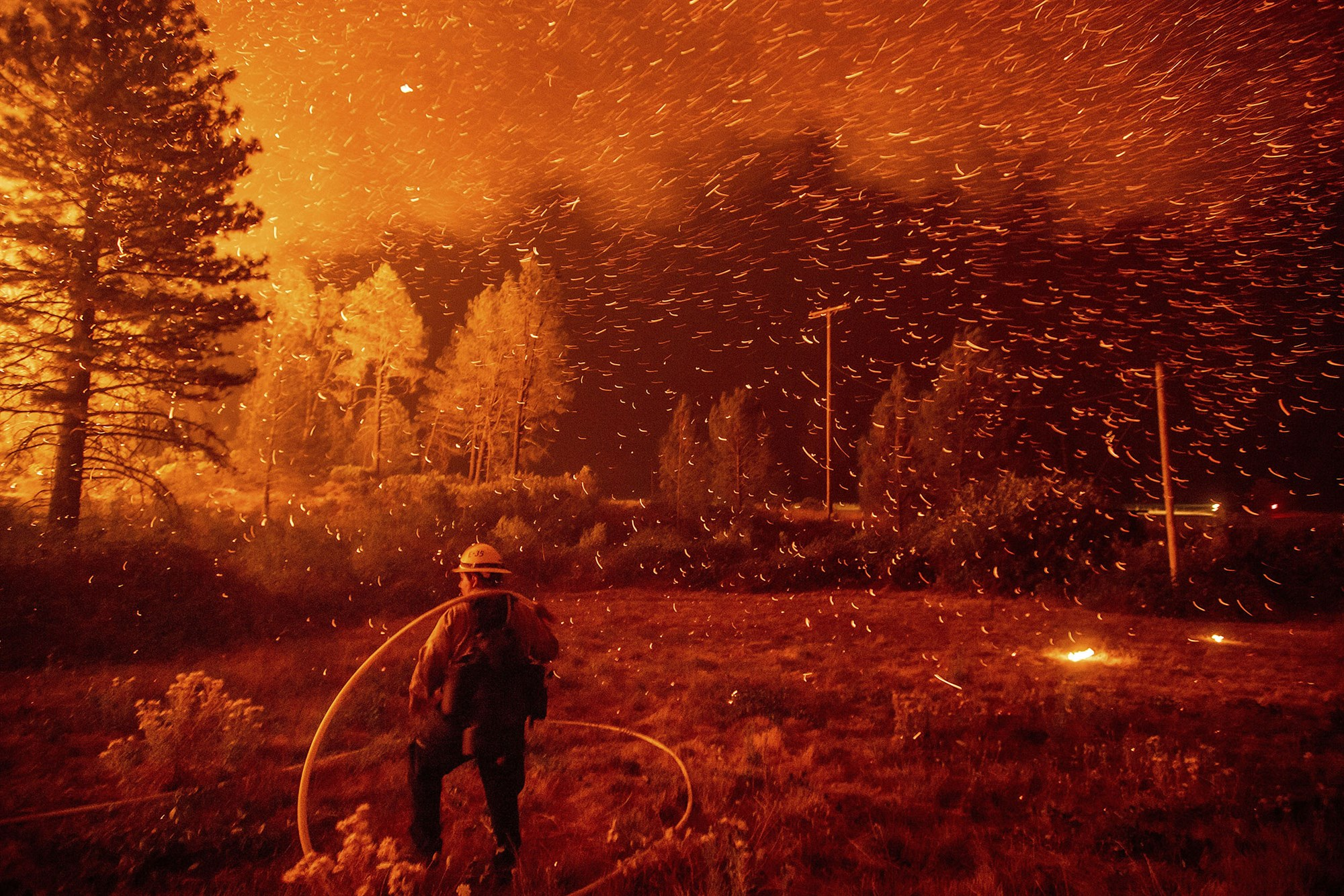 The Delta Fire rages in Shasta-Trinity National Forest in California on Sept. 6.Noah Berger / AP file