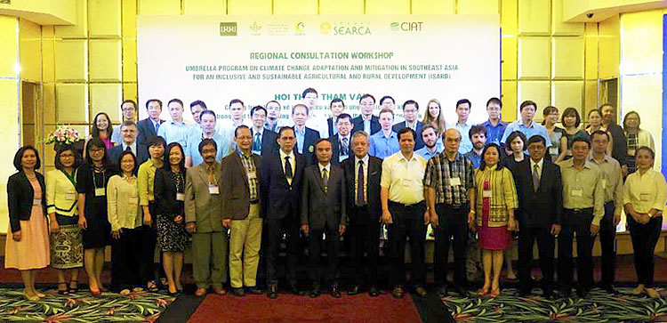 Guests and participants of the Regional Consultation Workshop towards an Umbrella Program on Climate Change Adaptation and Mitigation in Southeast Asia for an Inclusive and Sustainable Agricultural and Rural Development.