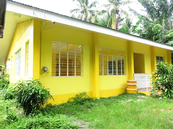 Newly constructed food processing building for the fried-banana chips enterprise located at Brgy. Linao, Inopacan, Leyte