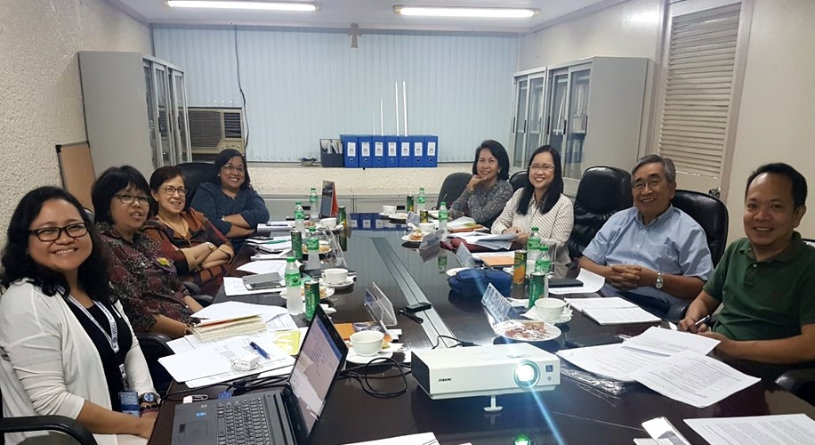 TESDA and SEARCA personnel meet to discuss details of the regional workshop on competency certification for agricultural workers