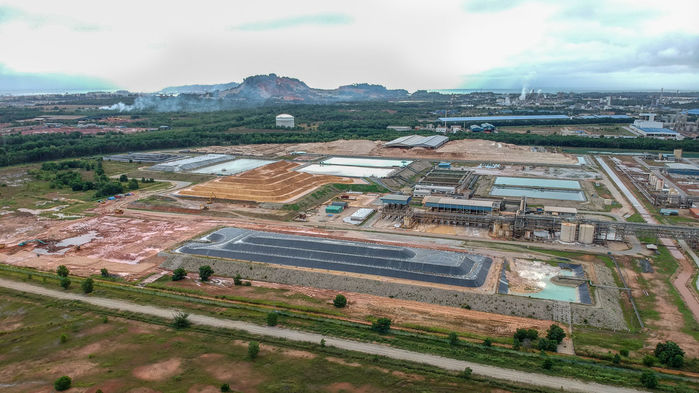 About 30% of the 1.5 million tons of residue stored on Lynas's facility in Malaysia is slightly radioactive and covered with a black lining. SAVE MALAYSIA STOP LYNAS