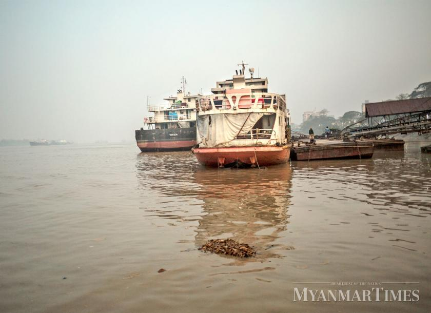 Misty morning along Yangon River. Zarni Phyo/The Myanmar Times