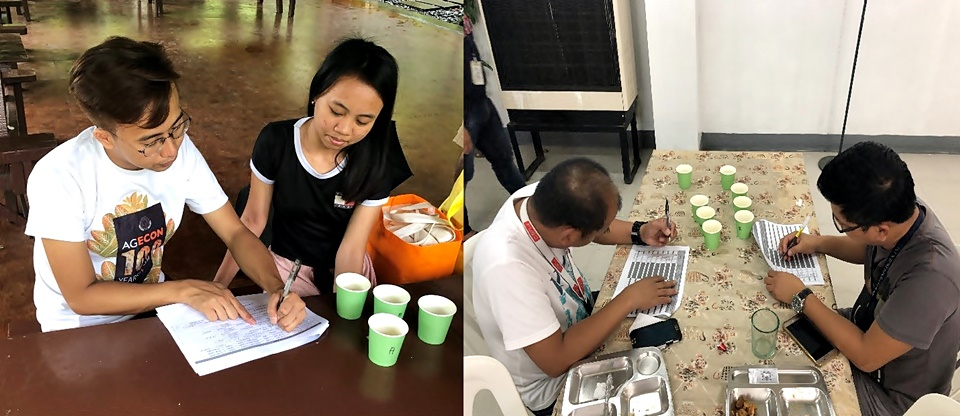 Survey conducted in Likas Resort, Los Baños, Laguna on 12 May 2019 (left) and in Psi Technology, Inc. canteen at Carmelray Industrial Park, Canlubang, Laguna on 10 May 2019 (right)