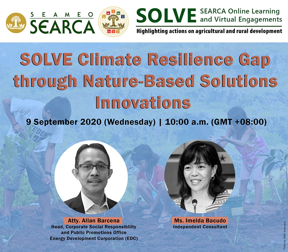 16th searca solve webinar features nature based solutions innovations climate resilience 01