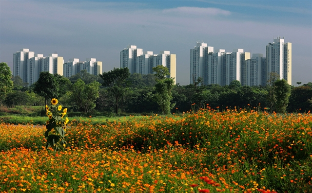 Part of Ecopark - a model of green urban area in Vietnam. (Photo: VNA)