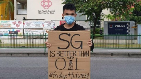 Climate change activists test strict Singapore protest laws