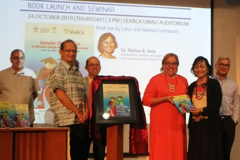 "SEARCA and CCAFS launch book on ""gendered"" climate change research in SEA"