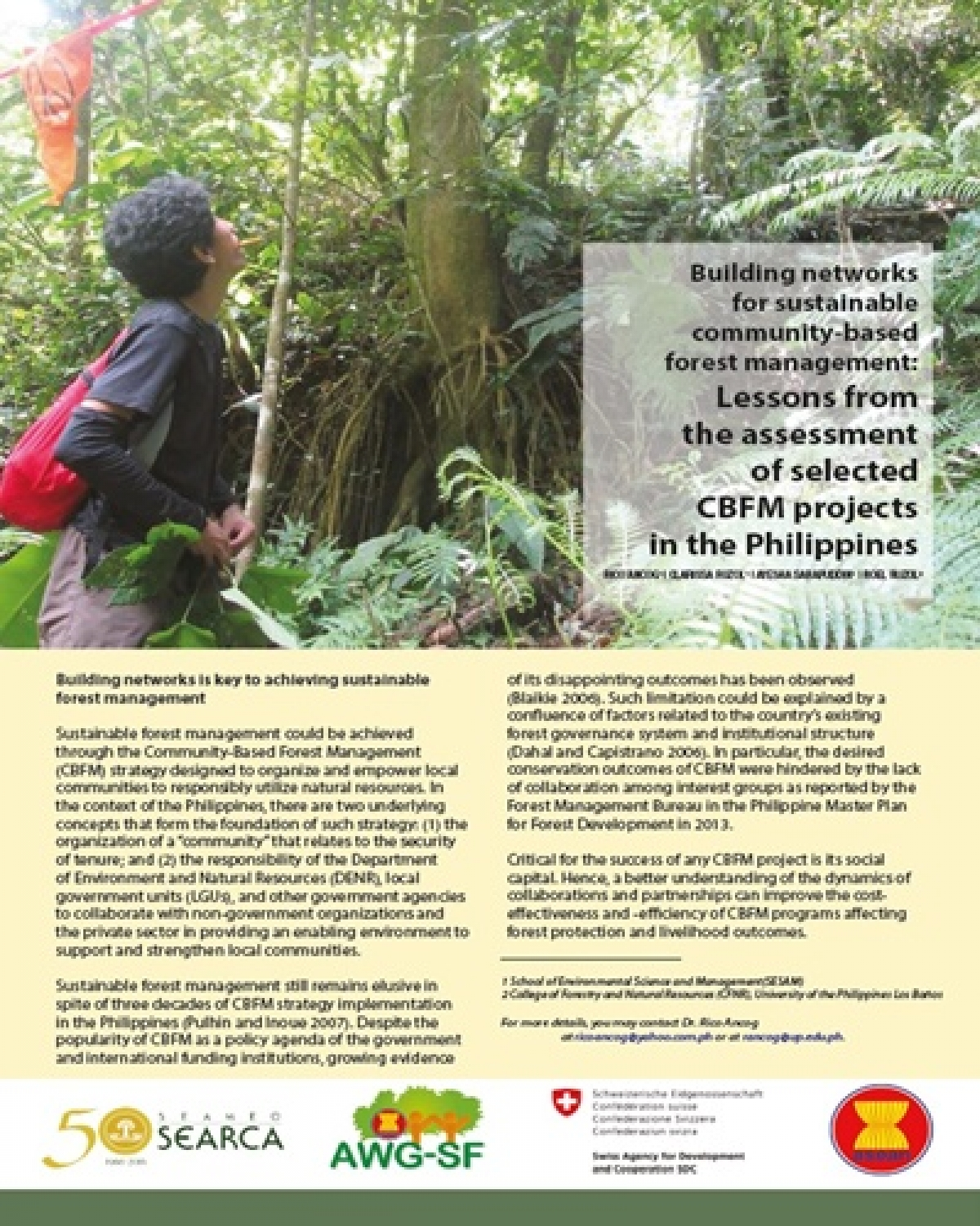 Building networks for sustainable community-based forest