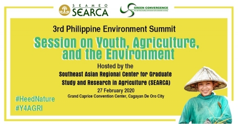 SEARCA to host youth session of the 3rd PH Environment Summit