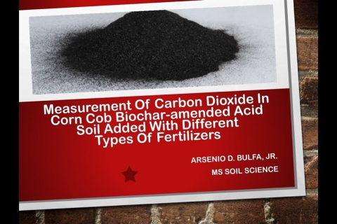 ADSS: Measurement of Carbon Dioxide in Corn Cob Biochar-amended Acid Soil Added with Different Types of Fertilizers
