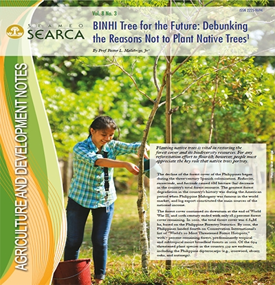 BINHI Tree for the Future: Debunking the Reasons Not to Plant Native Trees