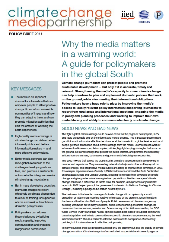 Why the media matters in a warming world: A guide for policymakers in the global South
