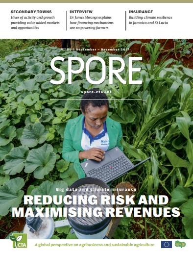 Spore Magazine issue no. 186: Big data and climate insurance: Redusing risks and maximizing revenues
