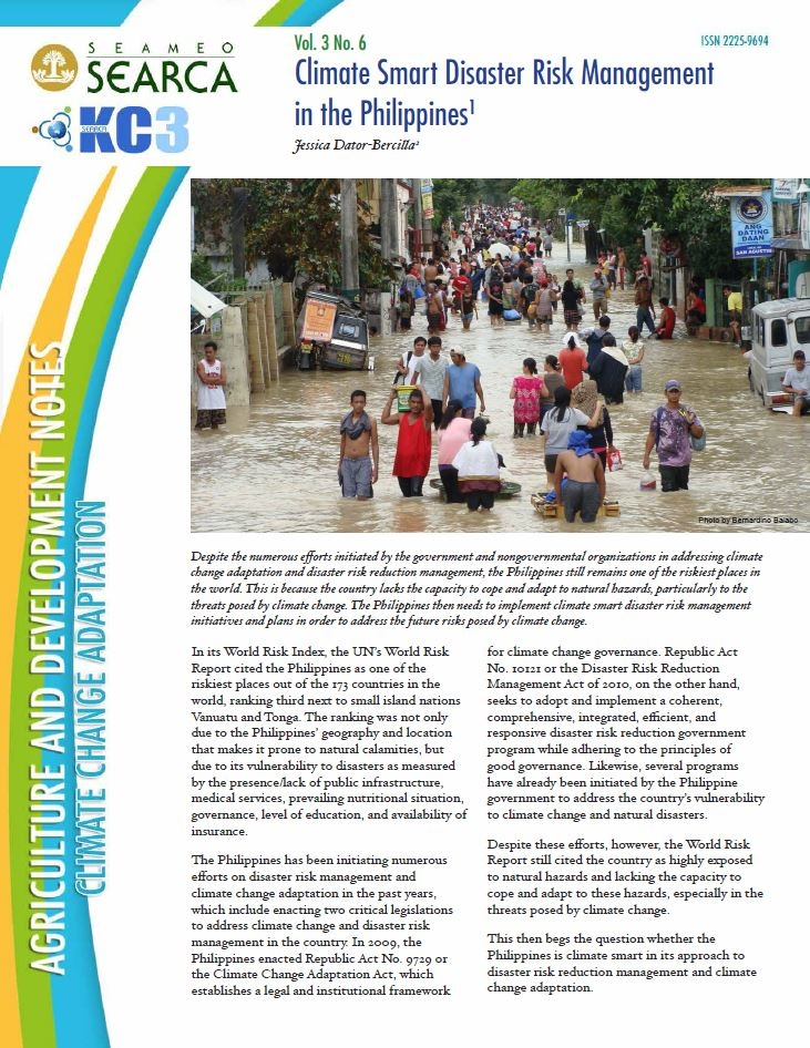 Climate-smart Disaster Risk Management in the Philippines