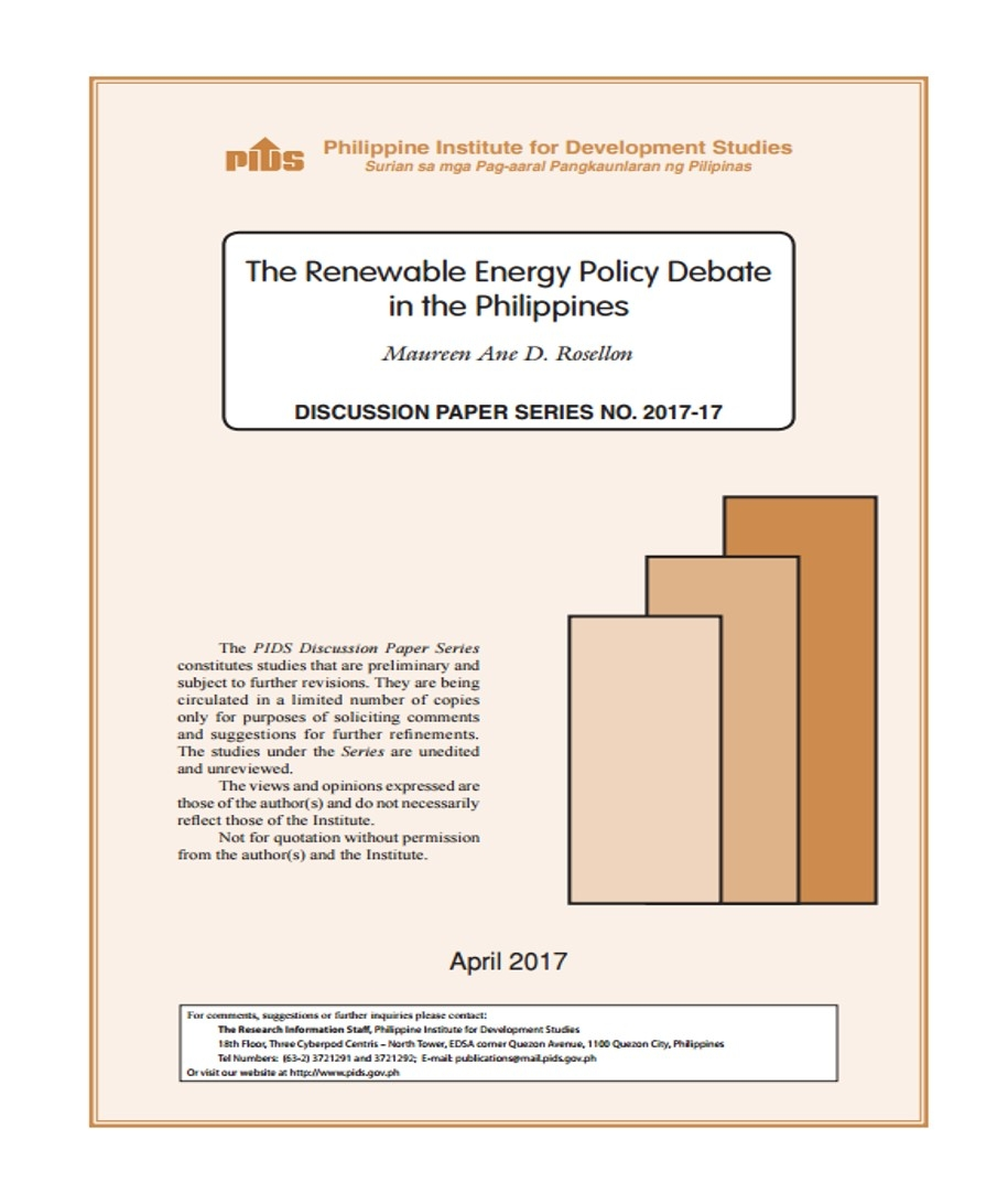 The Renewable Energy Policy Debate in the Philippines