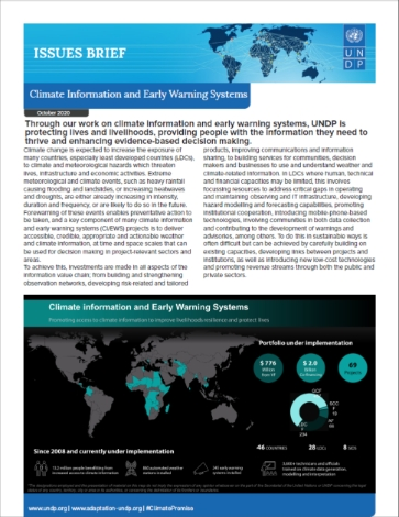 UNDP Issues Brief Climate Information and Early Warning Systems