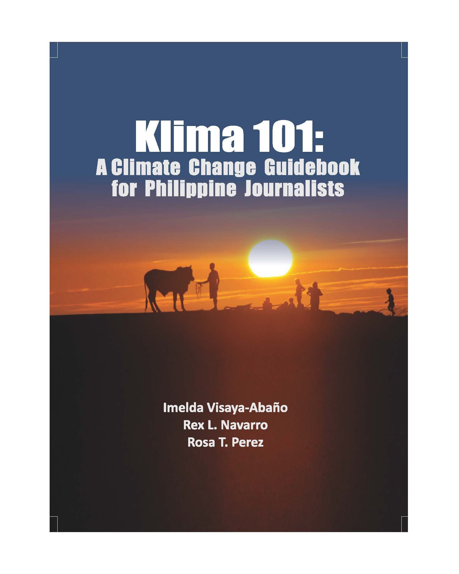 Klima 101: A Climate Change Guidebook for Philippine Journalists
