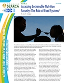 Assessing Sustainable Nutrition Security: The Role of Food Systems