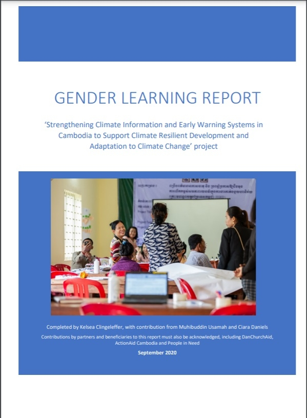 Gender Learning Report: 'Strengthening Climate Information and Early Warning Systems in Cambodia to Support Climate Resilient Development and Adaptation to Climate Change' project