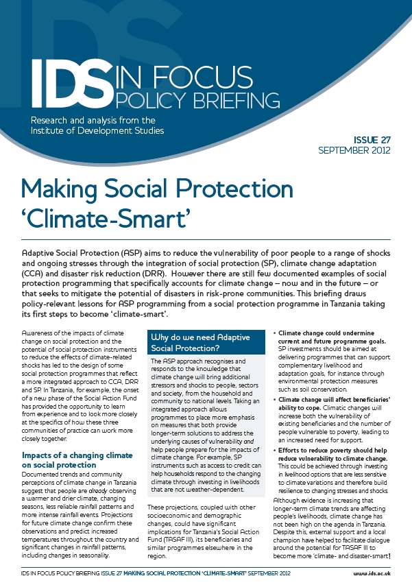 Making Social Protection 'Climate-Smart'